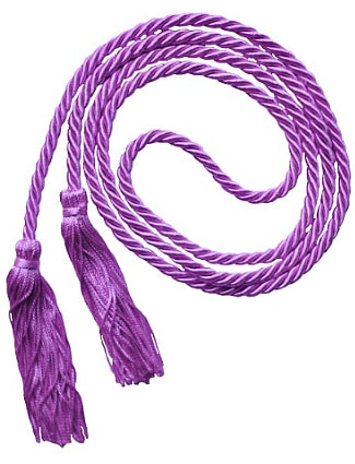 Lavender solid color graduation honor cord from Senior Class Graduation Products