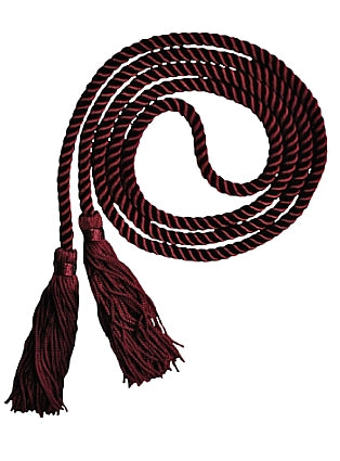 Maroon solid color graduation honor cord from Senior Class Graduation Products