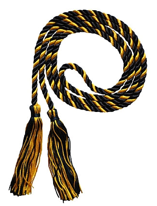 Navy and bright gold 2 color graduation honor cord from Senior Class Graduation Products