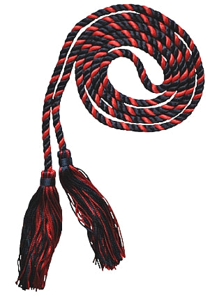 Navy and Red 2 color graduation honor cord from Senior Class Graduation Products