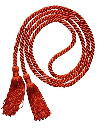 Orange solid color graduation honor cord from Senior Class Graduation Products