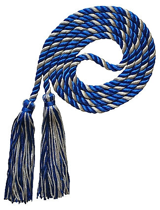 Royal-Silver 2 color honor cord from Senior Class Graduation Products