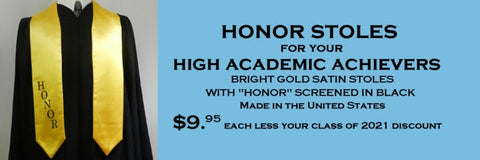 honor stoles from senior class graduation products