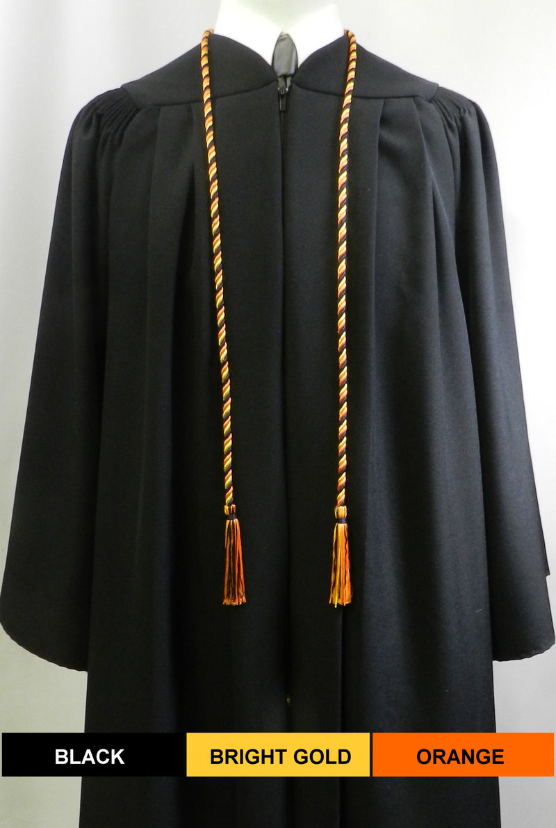 Bright Gold solid color graduation honor cord from Senior Class