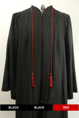 Black and red 2-color honor cords from Senior Class Graduation Products