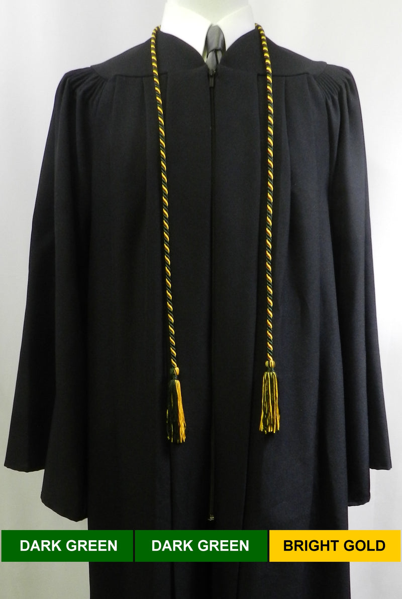 black solid color graduation honor cord from Senior Class