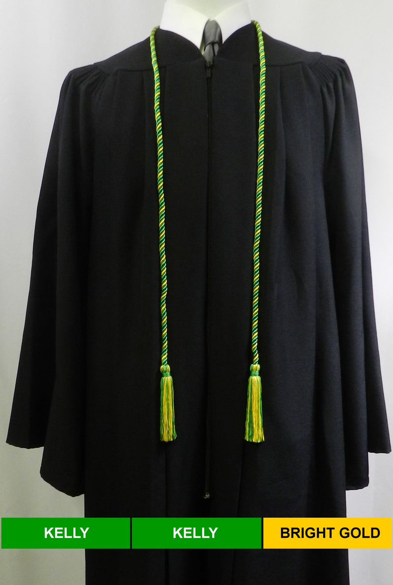 kelly green and bright gold 2 color graduation honor cord from Senior Class