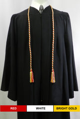 Red White Bright Gold 3 color graduation honor cord from Senior Class