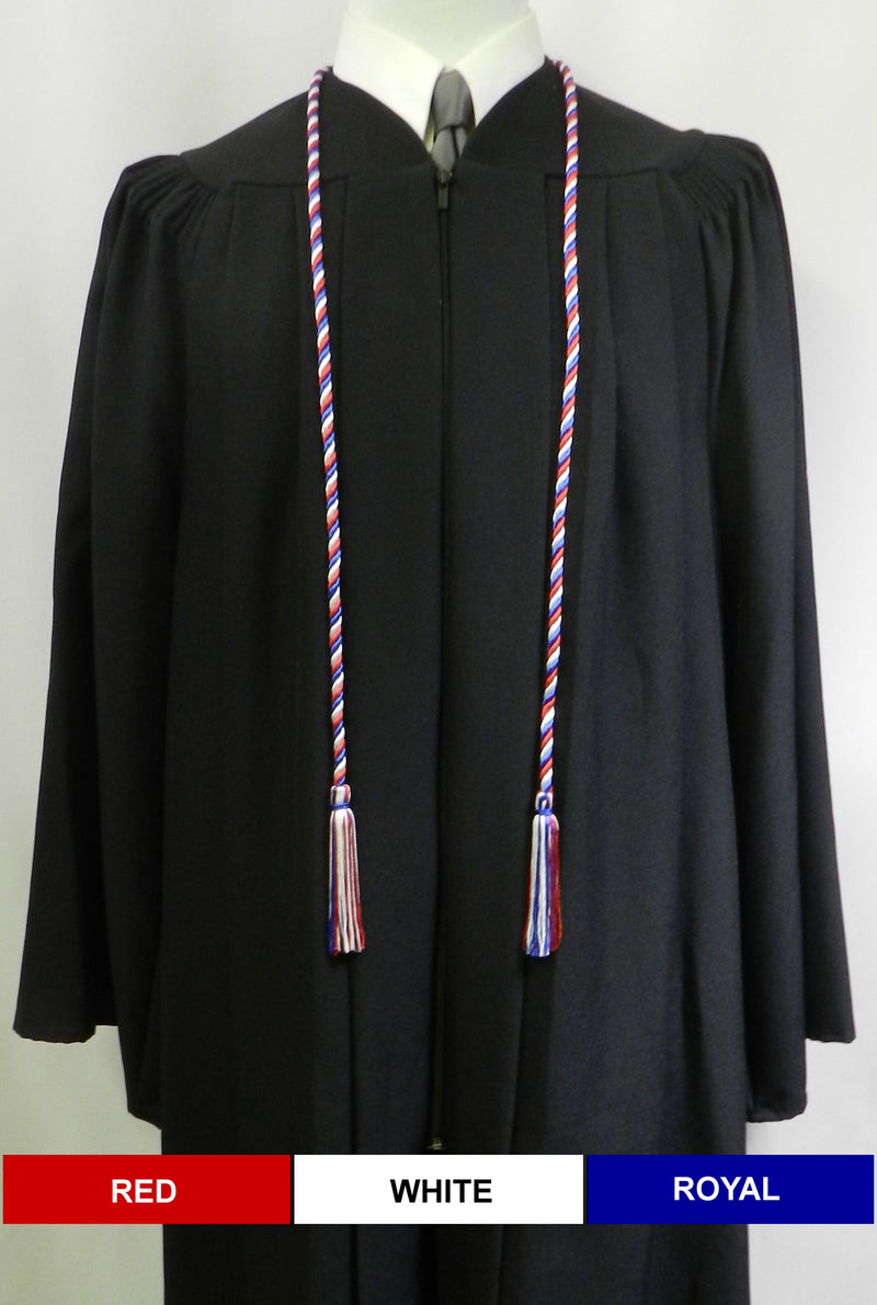 Red White Royal 3 color graduation honor cord from Senior Class