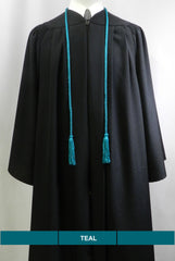 Teal solid color graduation honor cord from Senior Class