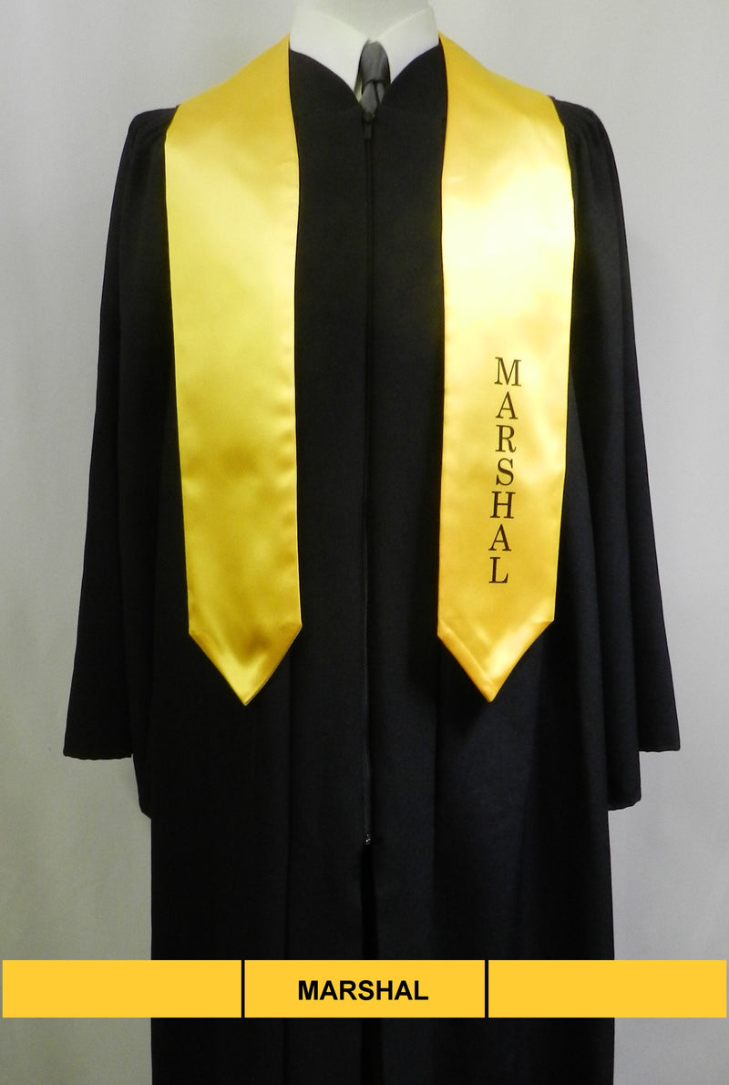Marshal stole in gold satin from Senior Class Graduation Products