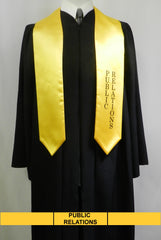 Public Relations stole in gold satin from Senior Class Graduation Products