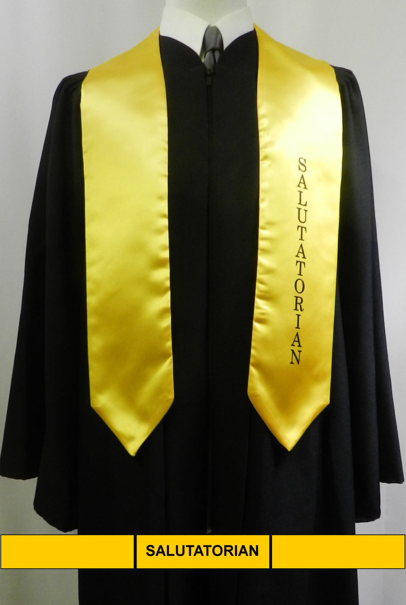 Gold satin Salutatorian stole from Senior Class Graduation Products