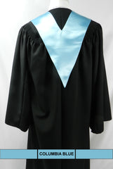 Columbia blue V-Neck Scholar stole from Senior Class