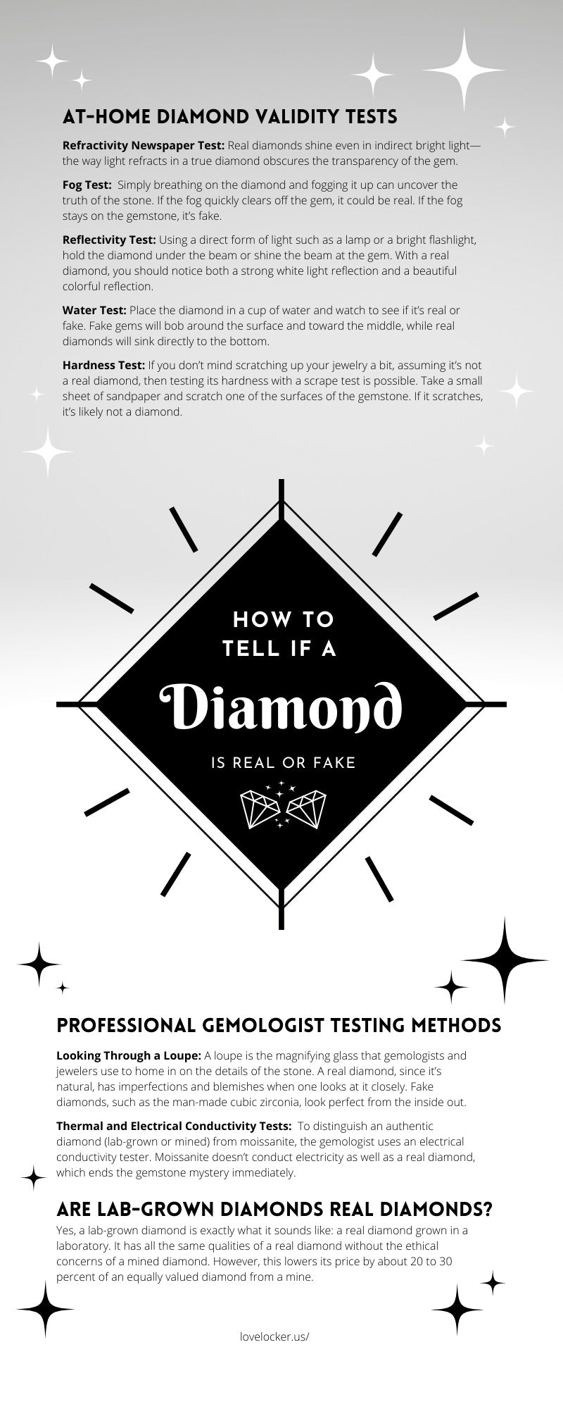 How To Tell If a Diamond Is Real or Fake