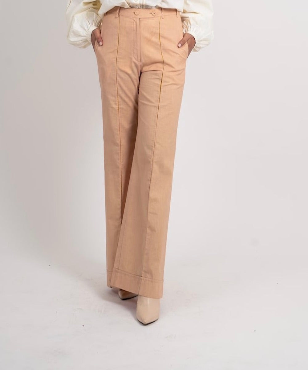ZARI LADDER LACE DETAILED PANT - SOUL EARTH