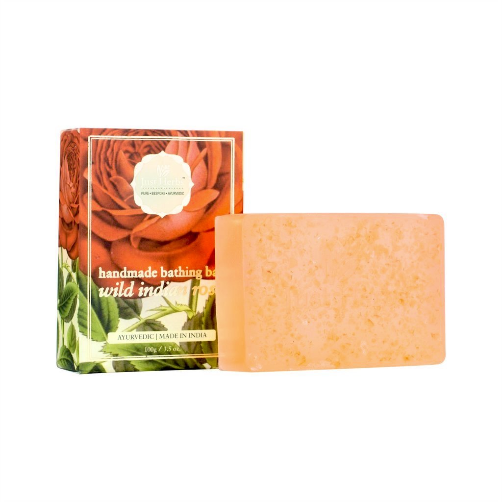 WILD INDIAN ROSE HANDMADE BATHING BAR - SOUL EARTH