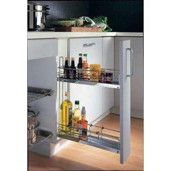 HAFELE Base Cabinet Pull-Out, 3-Tier, 90°-Base Cabinet Pull Outs-www.Parts4Cabinets.com