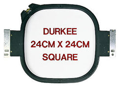 24cm x 24cm Square Hoop, 360 Needle Spacing, Tajima, Brother & Toyota Compatible