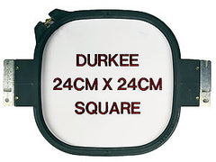 24cm x 24cm Square Hoop, 360 Needle Spacing, Happy Compatible