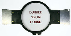 "Durkee 6 3/4"" (18cm) Round Hoop, 400MM Needle Spacing, Melco Bravo & Amaya Machines"