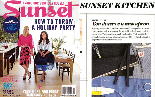 BlueCut Aprons featured in Sunset Magazine - You Deserve a New Apron
