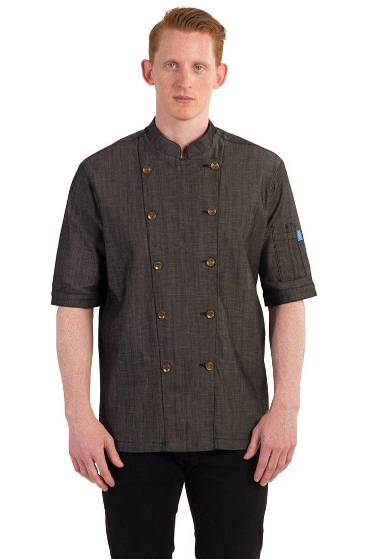 RIVINGTON CHEF COAT BLACK DENIM