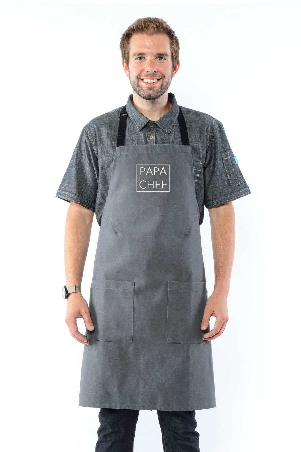 Daddy & Me Apron Gray
