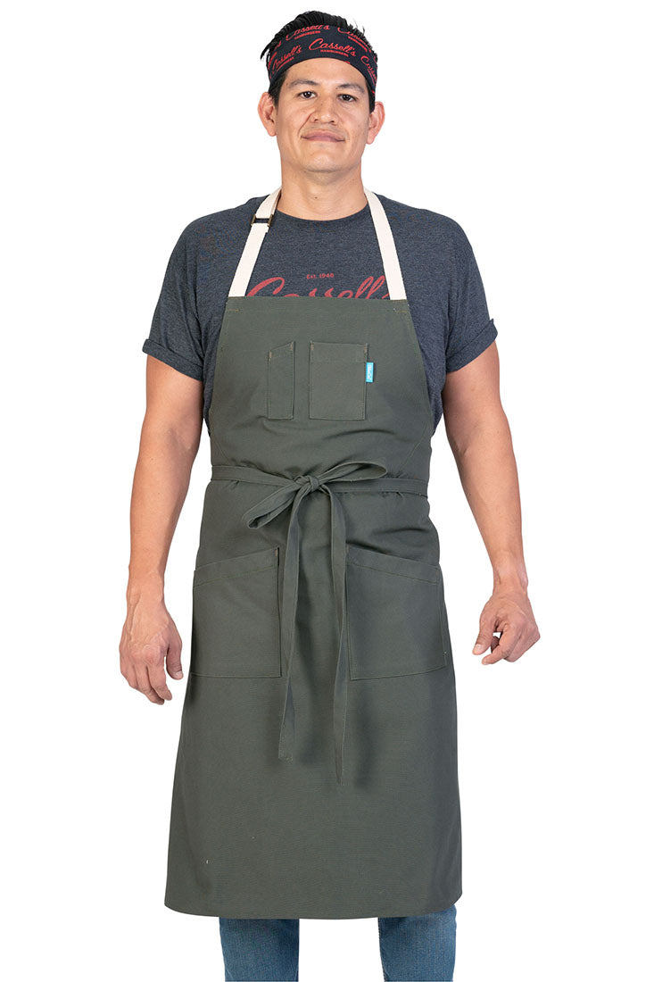 LINCOLN APRON STRIPED DENIM
