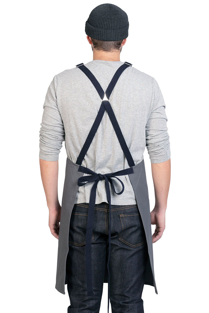 HATFIELD CROSS BACK APRON Gray