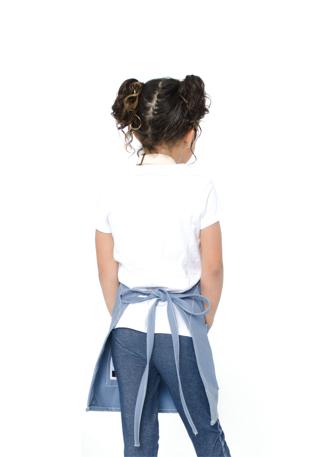LUCCA KIDS APRON 5-7 YEARS CORNFLOWER BLUE