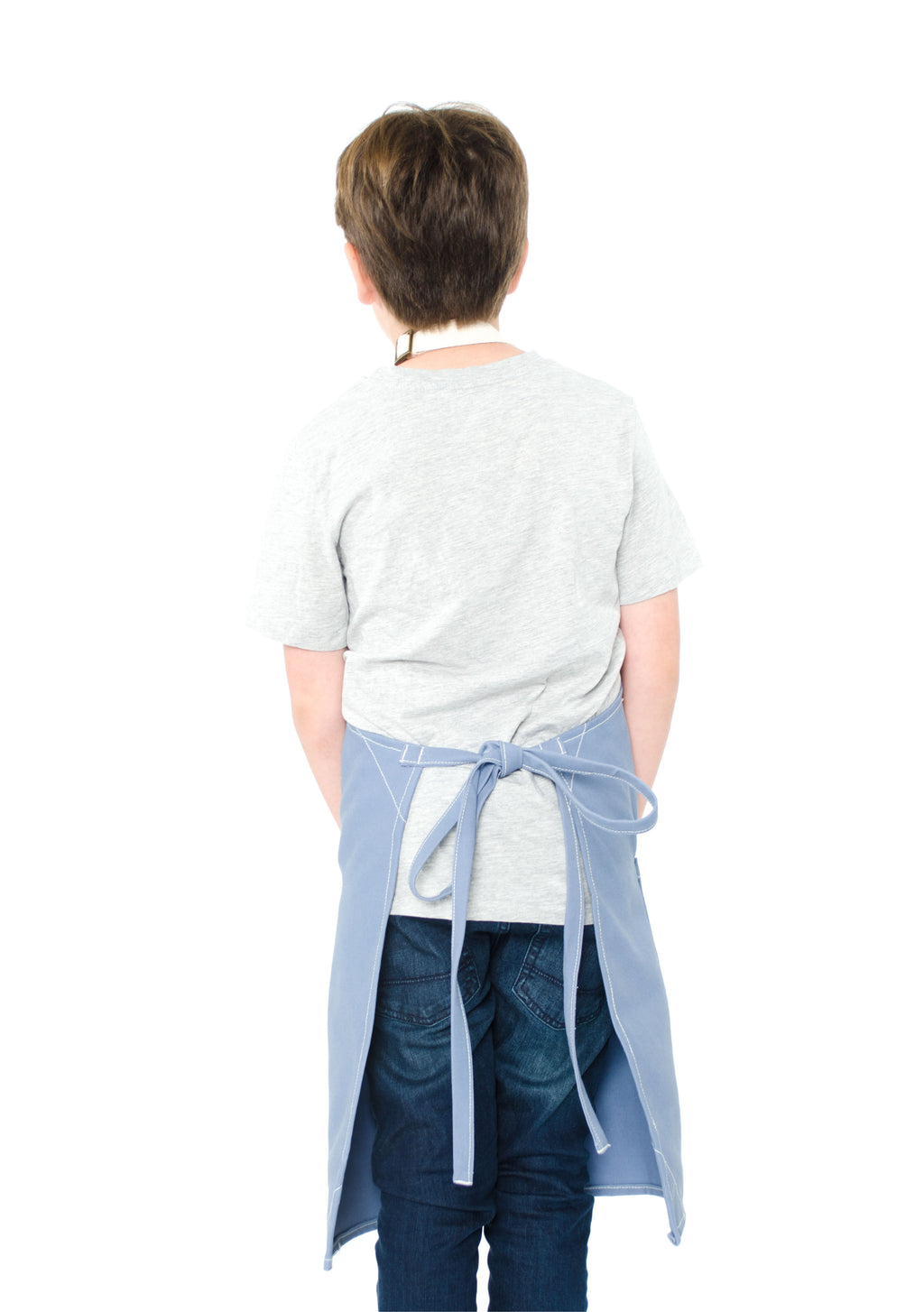 LUCCA KIDS APRON 8-12 YEARS CORNFLOWER BLUE