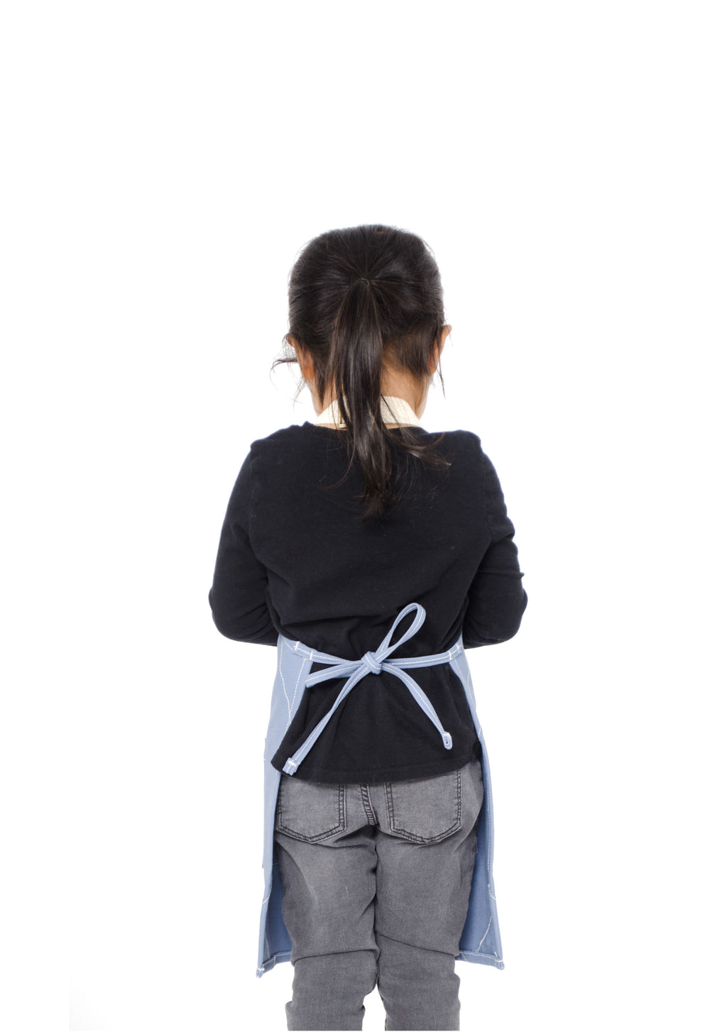 LUCCA TOTS APRON 2-4 YEARS CORNFLOWER BLUE