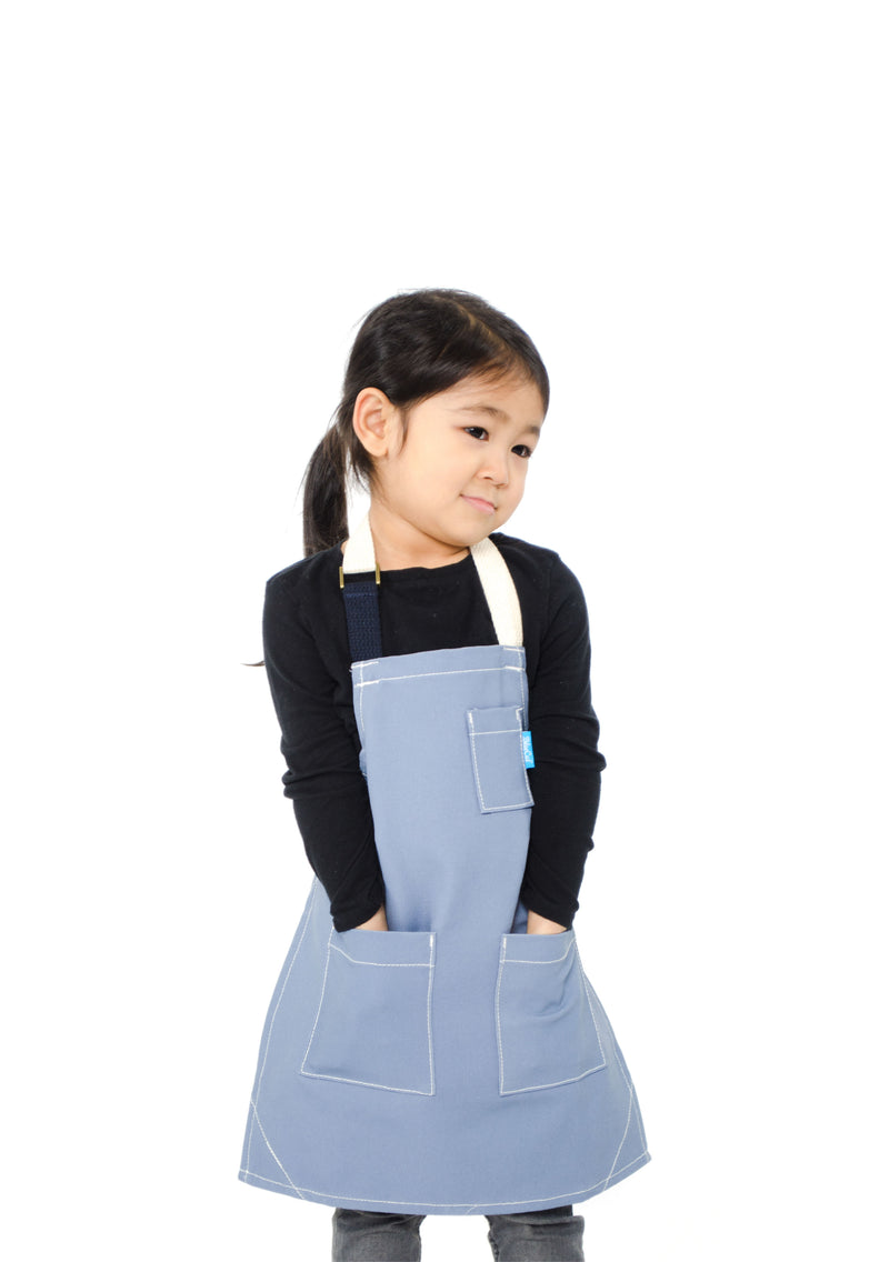 LUCCA KIDS APRON 8-12 YEARS GRAY