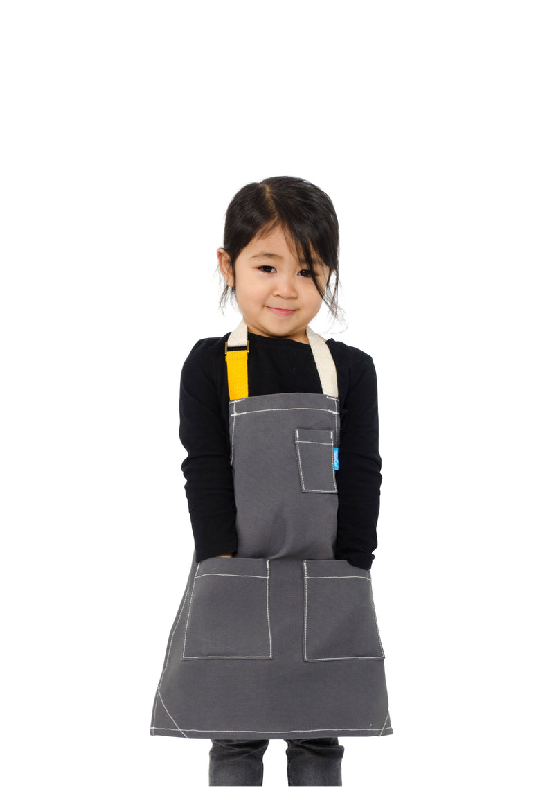 LUCCA TOTS APRON 2-4 YEARS GRAY