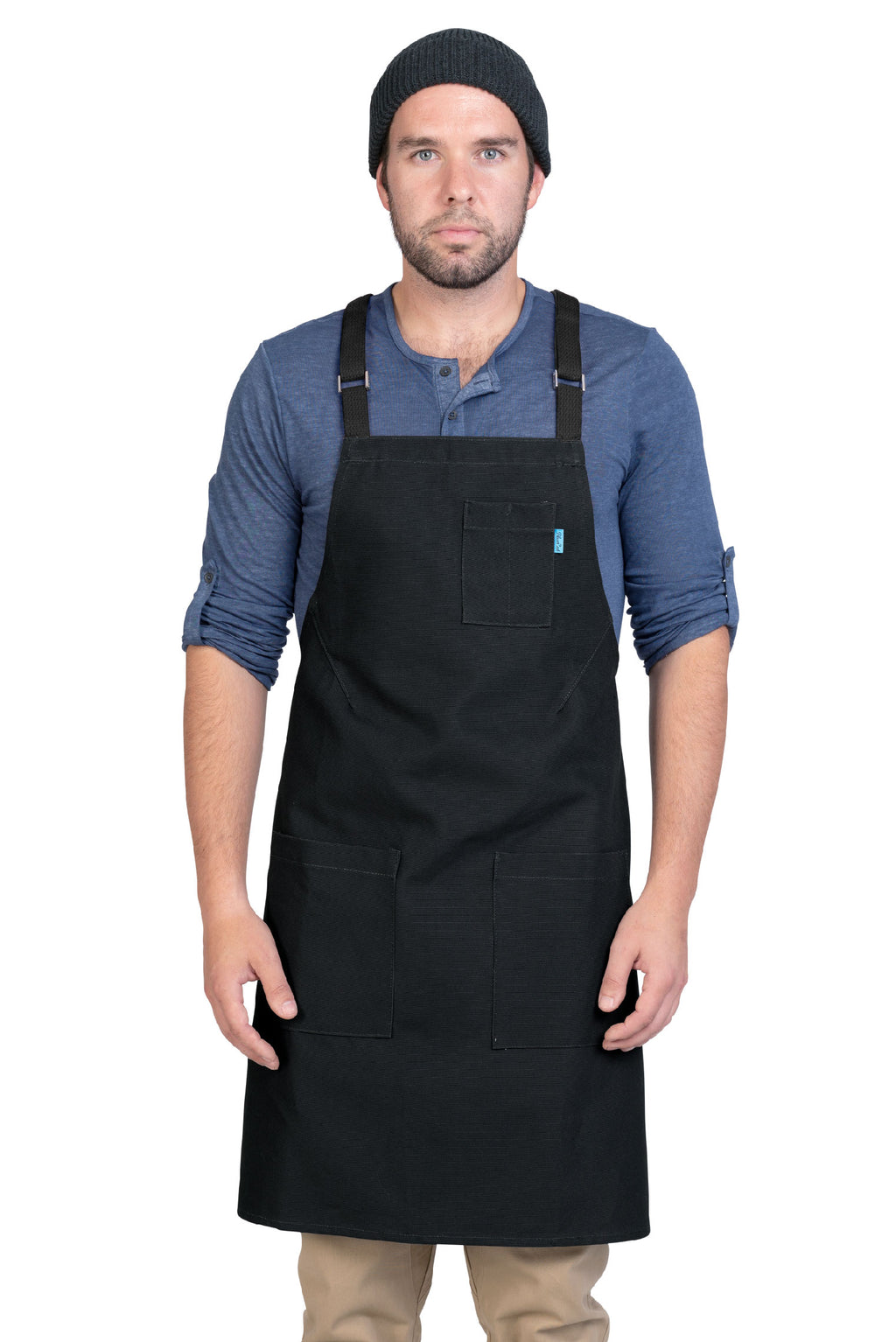 LUCCA CROSS BACK APRON BLACK