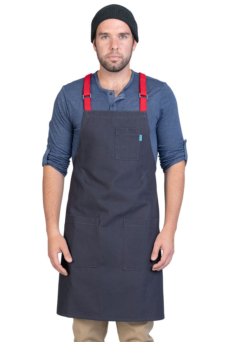 LUCCA CROSS BACK APRON CHARCOAL