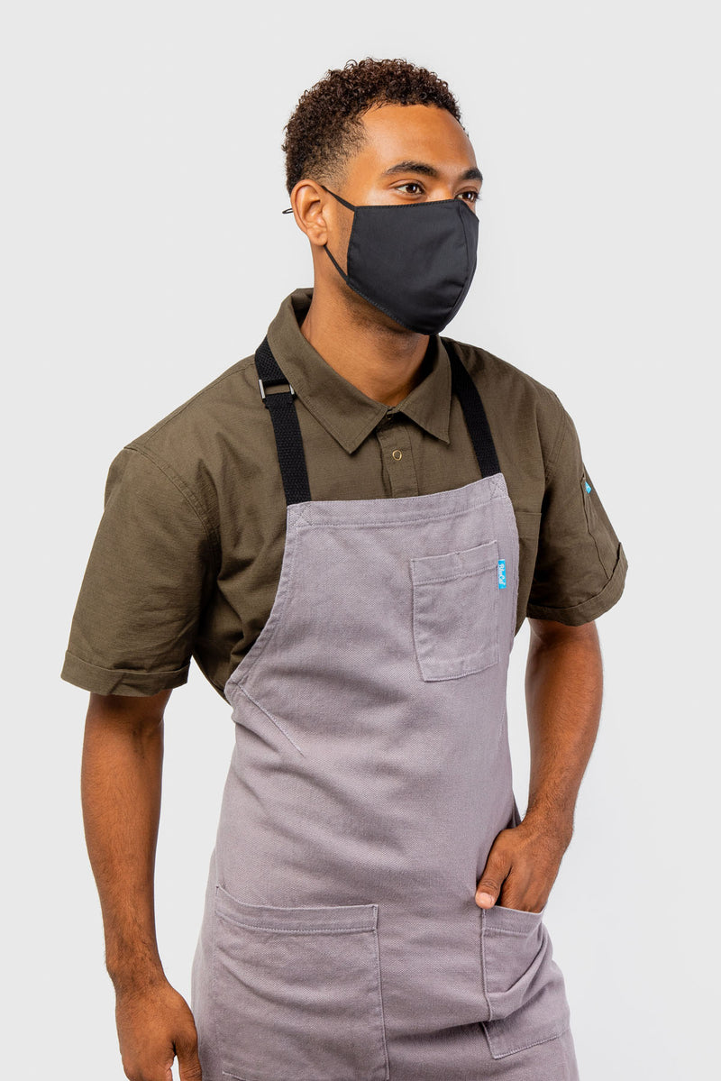 LUCCA LINEN APRON GRAY