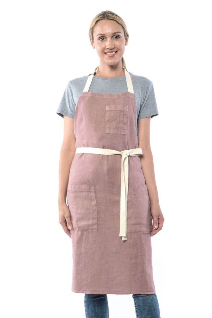 LUCCA CROSS BACK APRON OLIVE