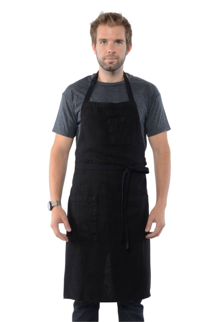 Chelsea Waist Apron Railroad Striped natural black