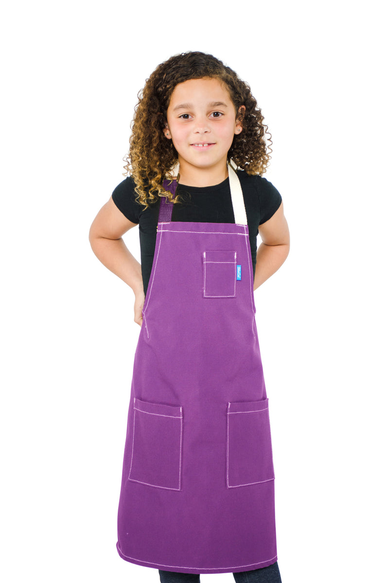 LUCCA KIDS APRON 8-12 YEARS GRAPE