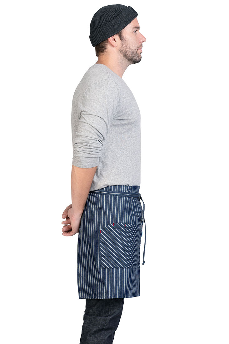 MERCER WAIST APRON STRIPED DENIM