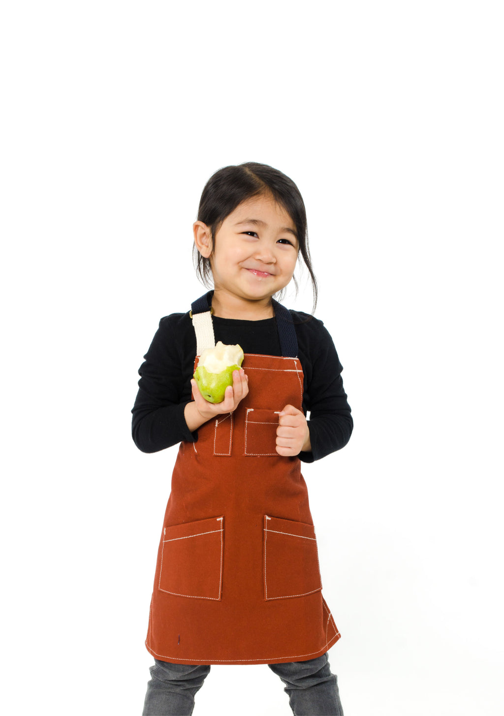 PARKER TOTS APRON 2-4 YEARS BRICK
