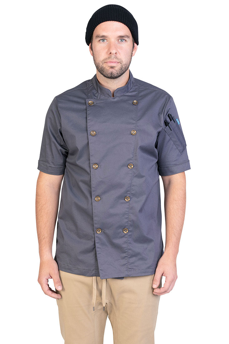 RIVINGTON CHEF COAT CHARCOAL