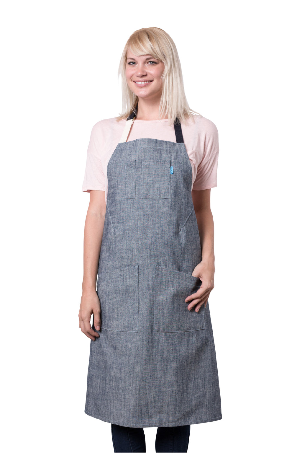 Parker Apron Blue Heirloom