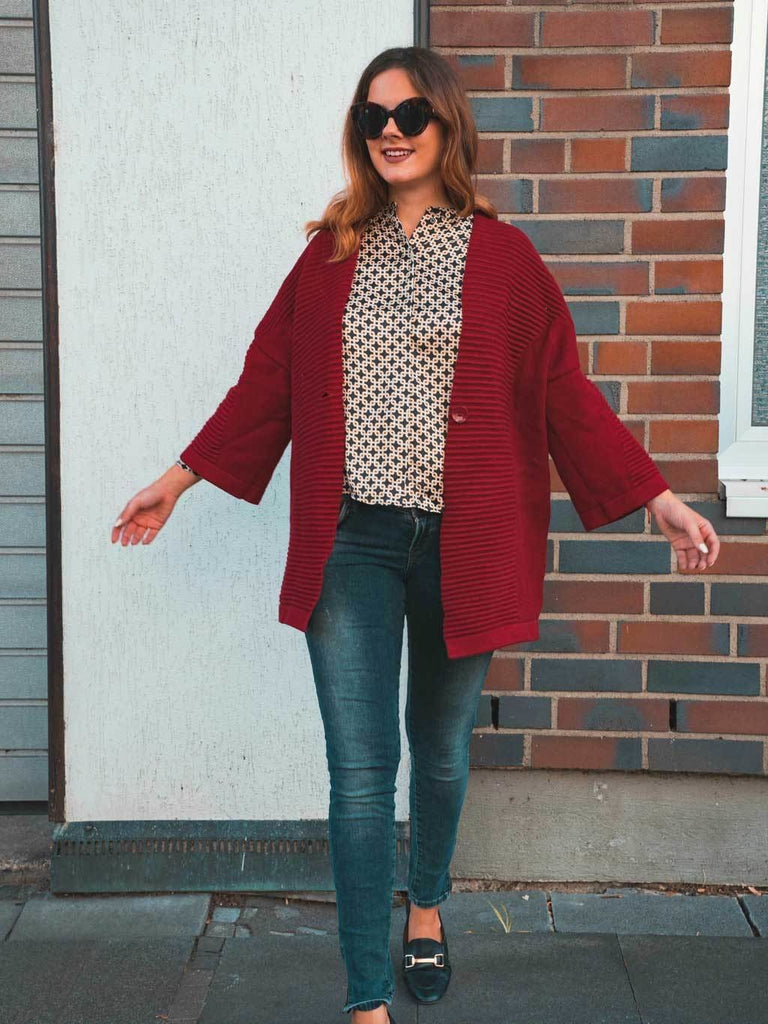 Roter Cardigan von Molly Bracken | pre-loved bei