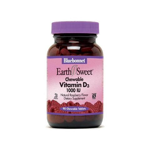 Earthsweet Vitamin D3 1000 UI Chewable 90 Tabs