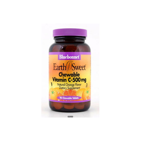 Earthsweet Vitamin C Chewable 500mg. 90 Tablets