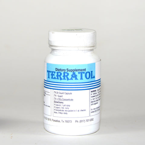 Terratol Trace Mineral 500 mg. 30 Caps