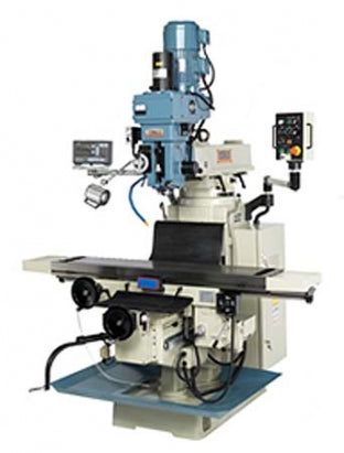 Baileigh VM-1258 Vertical Turret Mill with DRO & Power Feeds